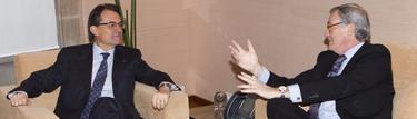 Artur Mas con Xavier Trías este lunes   EFE