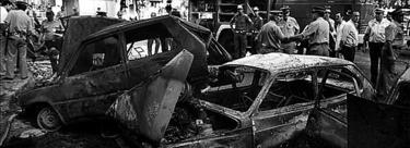 Atentado en ETA en la plaza República Dominicana de Madrid, en 1987. | Archivo