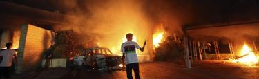 El consulado de EEUU en Bengasi tras el ataque. | Cordon Press/Reuters