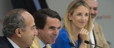 Felipe Calderón, en presencia de Aznar y Álvarez de Toledo | FAES