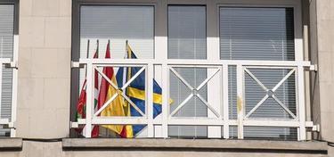 Balconada del ayuntamiento de Sopelana. | EFE