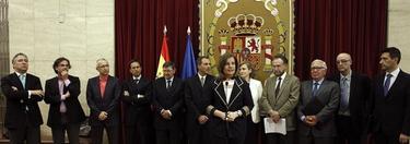 La ministra de Empleo, Fátima Báñez, durante el acto con el comité de expertos I EFE