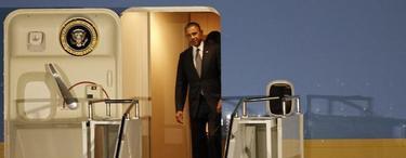 El presidente norteamericano, Barack Obama, a su llegada a Pretoria   EFE