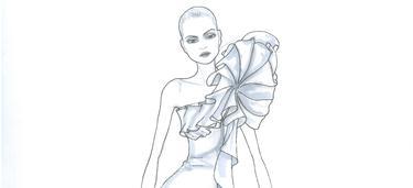 Uno de los diseños de María Barros, en exclusiva para LD