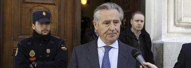 El expresidente de Caja Madrid tras declarar como testigo, este jueves. | Efe