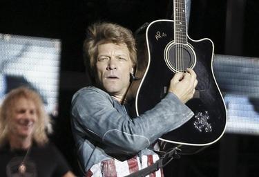 Jon Bon Jovi, durante su actuación en el Calderón | Efe