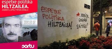 Cartel distribuido por Sortu   LD. - Pintada en una calle del País Vasco   Twitter.