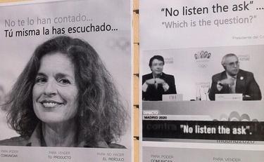 Carteles reivindicativos en la Escuela Oficial de Idiomas | @mundolenguas