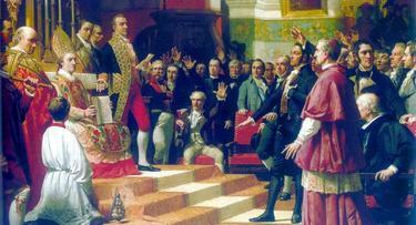 El juramento de las Cortes de Cádiz, obra de José Casado del Alisal