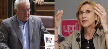 Cayo Lara y Rosa Díez, líderes de IU y UPyD.