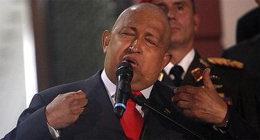 Chávez, en una de sus comparecencias durante su enfermedad | Archivo