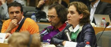 Ada Colau, en el Parlamento Europeo | EFE