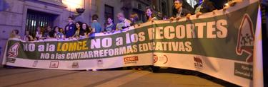 Manifestación contra la Lomce, el pasado mes de mayo, en Madrid. | Cordon Press