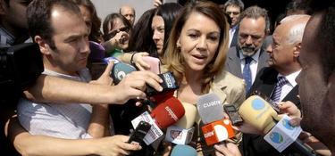 María Dolores de Cospedal, en Guadalajara este viernes | EFE
