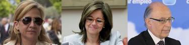 Cristina de Borbón, la directora de la Agencia Tributaria, Beatriz Viana y Cristobal Montoro | Agencias