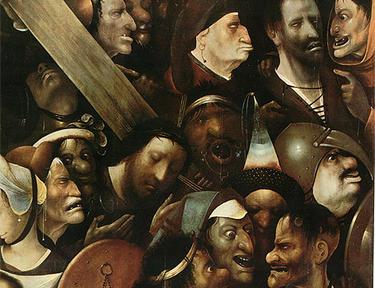 Cristo cargando la cruz según la visión de El Bosco