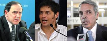 Exequiel Espinosa, Axel Kicillof y Roberto Baratta; tres de los nuevos hombres fuertes de YPF