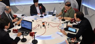 Javier Somalo, junto a Francisco Cabrillo, César Vidal y Víctor Gago en Debates en Libertad | LD/D. Alonso
