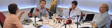 Pura Sánchez Zamorano, Fernando Navarro, Javier Somalo y José Luis Martínez durante el programa | LD/David Alonso