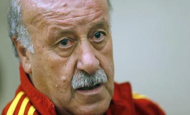 Vicente del Bosque, en el hotel de concentración de la selección en Río de Janeiro. | EFE