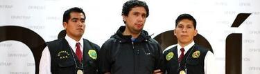El pederasta, custodiado por dos agentes | Policía Nacional