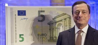 Mario Draghi presentó el nuevo billete el pasado 10 de enero I EFE