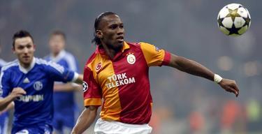 Didier Drogba, durante el partido de Champions ante el Schalke. | Cordon Press