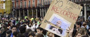 Estudiantes universitarios en la huelga educativa de mayo | Efe