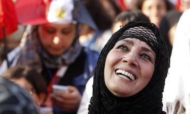 Una mujer egipcia protesta contra Mohamed Morsi en El Cairo, en julio de 2013. | Cordon Press
