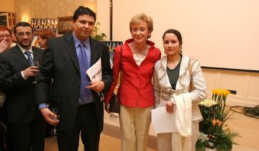 El Omari junto a la exvicepresidenta De la Vega, cuando éste era sindicalista