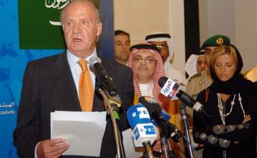 Su Majestad El Rey, dirigiéndose a la SAGIA en 2006 durante su visita a Riad | EFE/Casa Real