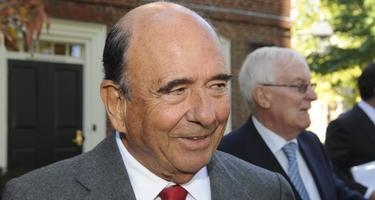 Emilio Botín, presidente de Banco Santander, el pasado 18 de octubre en Harvard   EFE