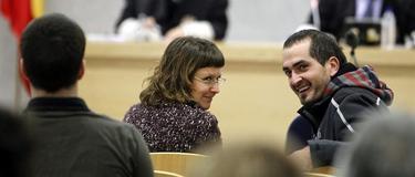 Iratxe Yáñez y Garikoitz García Arrieta durante el juicio.