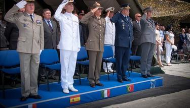 Jefes de los Estados Mayores de la Defensa de Francia, España, Italia y Portugal. | Mde.es
