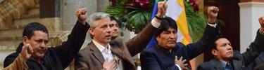 Morales y su Gobierno durante la expropiación de REE | Archivo