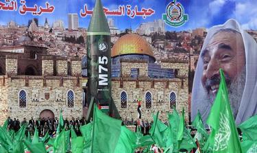 Escenografía escogida por el líder de los terroristas de Hamás en Gaza | EFE
