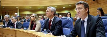 Feijóo, en su escaño antes del comienzo del debate | EFE