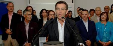 Feijoó, con los candidatos de su partido en Lugo.
