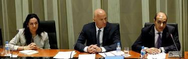 Los miembros de troika en Madrid | EFE