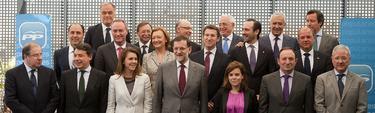 Foto de los barones del PP, con Rajoy | Tarek