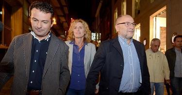 El ya exalcalde orensano, Francisco Rodríguez, acompañado por su pareja y un diputado autonómico del PSOE | Archivo