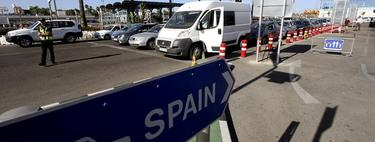 Control de acceso en la verja de Gibraltar | EFE
