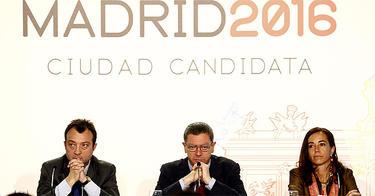 Cobo, Gallardón y Coghen en un acto de la candidatura | Cordon Press