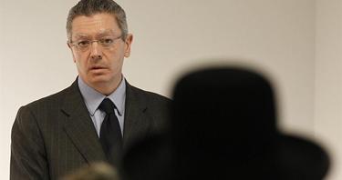 El ministro de Justicia, durante el acto | EFE