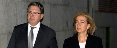 Carlos García Revenga, junto a la infanta Cristina   Archivo
