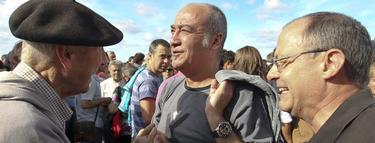 Garitano e Izaguirre, en la manifestación | EFE