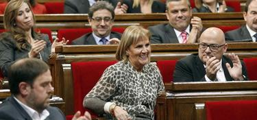 Nuria de Gispert, la presidenta del Parlamento catalán | EFE