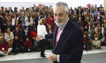 José Antonio Griñán, durante una conferencia del PSOE | Efe
