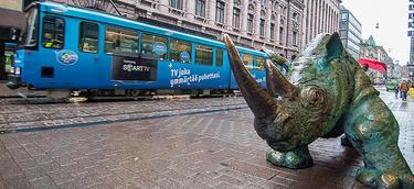 Una peculiar estatua en las proximidades de la Bolsa de Helsinki | C.Jordá