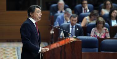 Ignacio González durante el Debate.